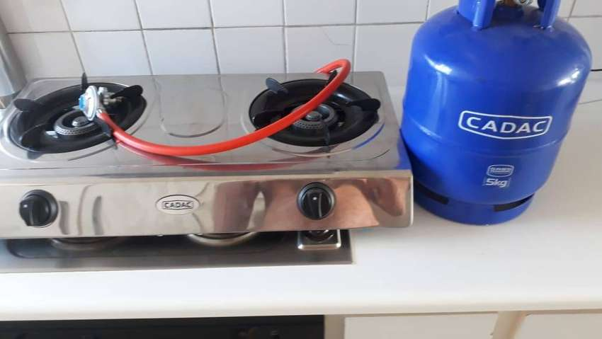 5kg Gas bottle and stove. Never used. Not allowed in complex. 0