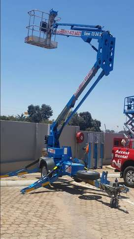 KWICK ACCESS RENTALS - TZ34 TRAILER MOUNTED BOOM LIFT FOR HIRE - 12m