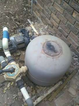 Selling swimming pool filter and pump
