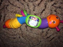 Развивающие игрушки ( Каталка деревянная и гусеница)