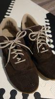 Sportowe buty skórzane Flexi Feet brązowe zamszowa skóra r.39 jak nowe