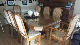 dining room and buffet cabinet set