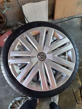 Continental tyres,rims and Polo wheel covers