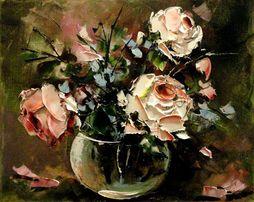 Róże - Obraz olejny 30x24cm. kwiaty