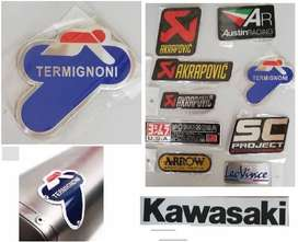 Kawasaki Termignoni aluminium exhaust badge emblem decal