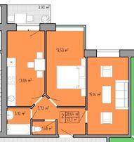 2 комнатная квартира для новой жизни в 21 веке в центре Таирова ! S