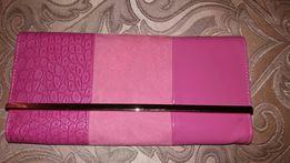 Клатч розовый ( маленькая сумочка)