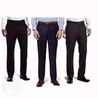 3n1 men executive suit trousers- black, navy blue, chocolate brown 0