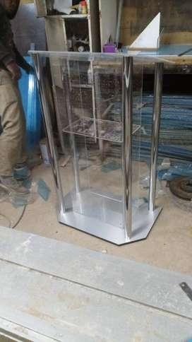 Silver Poles And Base Podium At Affordable Prices