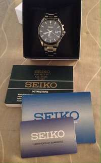 Seiko Kinetic, stainless steel for sale  South Africa