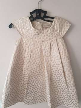 Formal Gold Dress 1 - 2 years - Imported