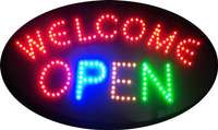 Image of Neon LED Welcome - OPEN SIGN