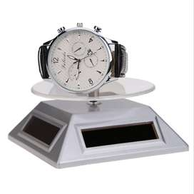 Solar Showcase 360 Turntable Rotating Jewelry Watch Phone Ring Display