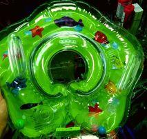 Zielony kołnierz dla niemowlaka do wanny na basen Baby Swimmer