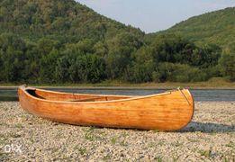 Каное (човен, каноэ, лодка) з натуральної деревини