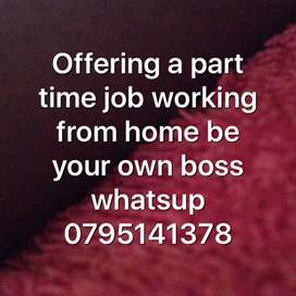 Offering a part time job
