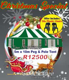 Deal tent with Chairs Pole Tents Marquee Plastic Chairs