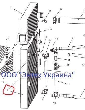 CompAir 100005313 - Масляный теплообменник, радиатор, охладитель Днепр - изображение 2