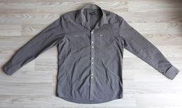 Szara gładka koszula Sedna 40 L