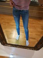 Jeansy Levi's Oryginalne dżinsy denim rurki skinny dopasowane elastycz