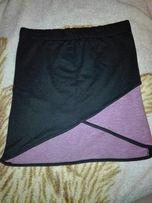 Spódniczka dresowa czarno-różowa rozmiar M