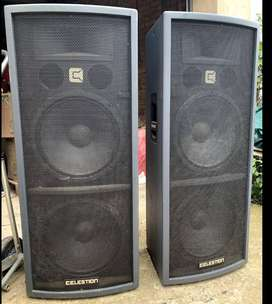 PA System, Celestion Speakers, QSC Amp