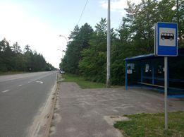 Фасадный участок на Обуховском шоссе (пгт. Козин, мотель Сосновый бор)
