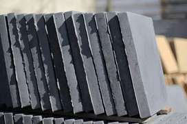 Brand new rock face paving slabs from us to you.