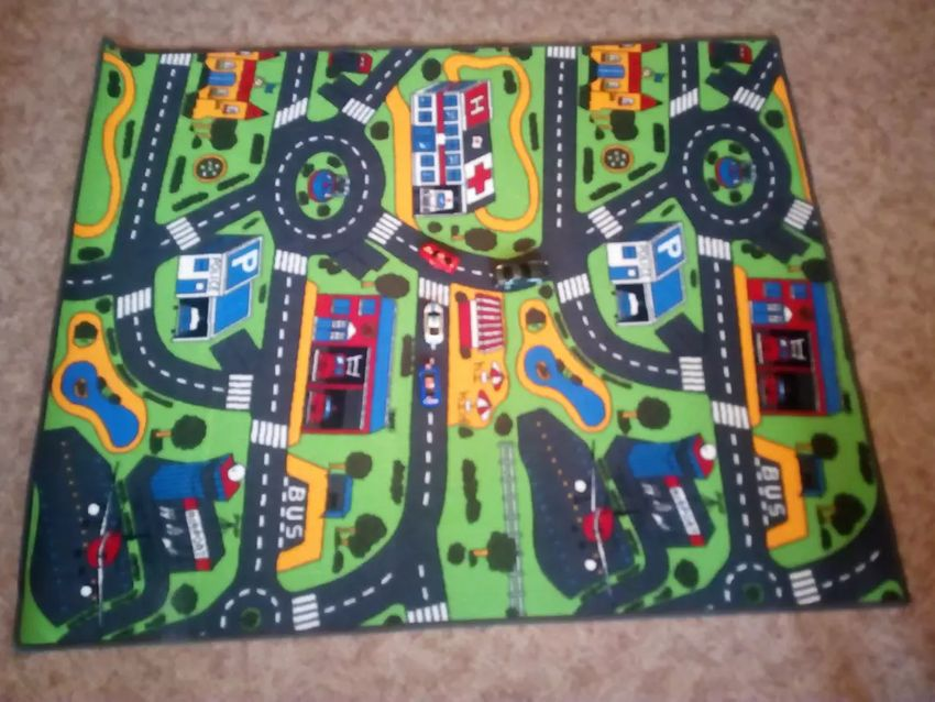 Dětský herni koberec - silnice 170 x 135 0