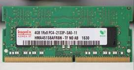 2 x DDR4 4GB ram for sale 350 Each 600for both