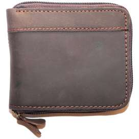 BROWN GENUINE LEATHER WALLET RUGGED