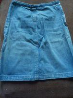 Spódnica jeansowa vintage, szyta przez krawcową
