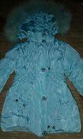 Курточка зимняя на девочку 4-6 лет