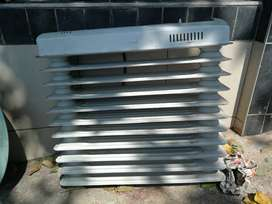 Dinner sets, oil fun heater, compressor, various other items