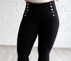 Spodnie modelujące figurę model Kardashian 46 i 48 wysoki stan