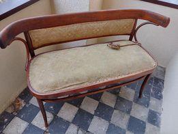 Komplet mebli giętych sofa krzesła stół antyk do renowacji gięte