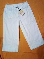 Белые капри-бриджи женские