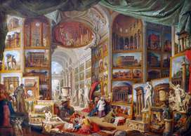 """Print of """"Gallery Of Views Of Ancient Rome"""" by Giovanni Paolo Panini"""