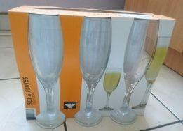 Kieliszki do szampana wysokie komplet 6szt. Nowe