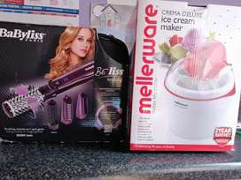 Mellerware ice cream maker  and Babyliss accessory