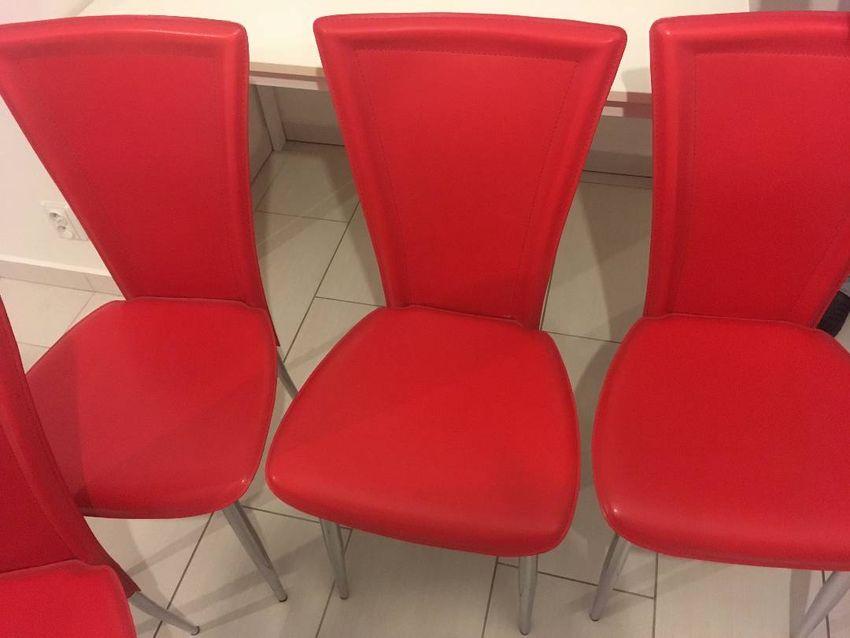 Sada červených židlí (6ks) 0