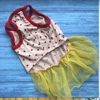 Платье (одежда) для маленькой собачки (собаки). Размер S