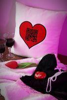 """Poduszka prezent dla ukochanej ukochanego z haftem """"Kocham Cię"""""""