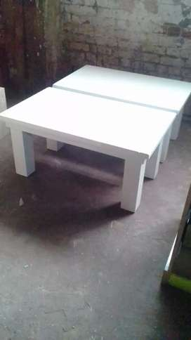 White standard wooden coffee table