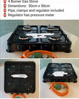 4 burner gas stove.