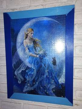 Large framed jigsaw puzzle picture (fantasy) 80x60