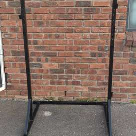 Squat rack heavy duty frames on special. While stock lasts