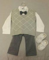 Ubranko do chrztu, elegancki strój, rozmiar 68 + buciki GRATIS