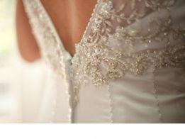 Шикарное дизайнерское свадебное платье от Galina Signature USA