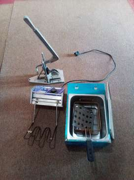 Potato chips stove and cutter for sale